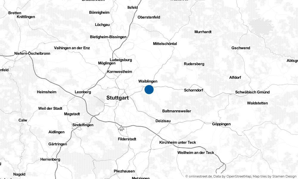 Karte: Wo liegt Kernen im Remstal?