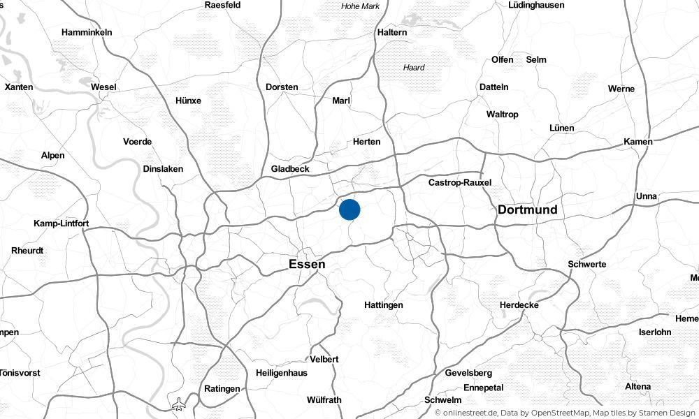 Karte: Wo liegt Gelsenkirchen?