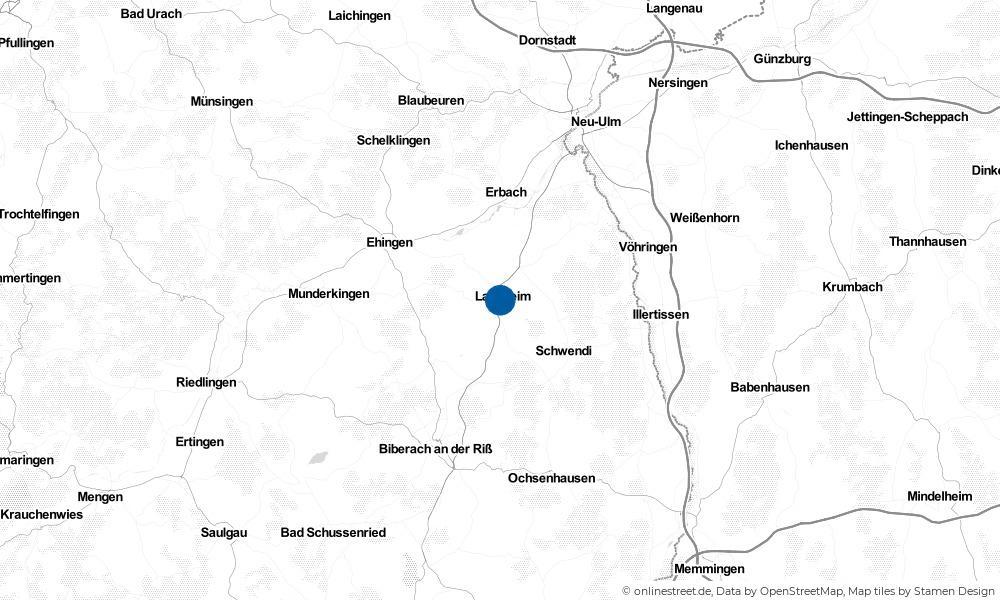 Karte: Wo liegt Laupheim?