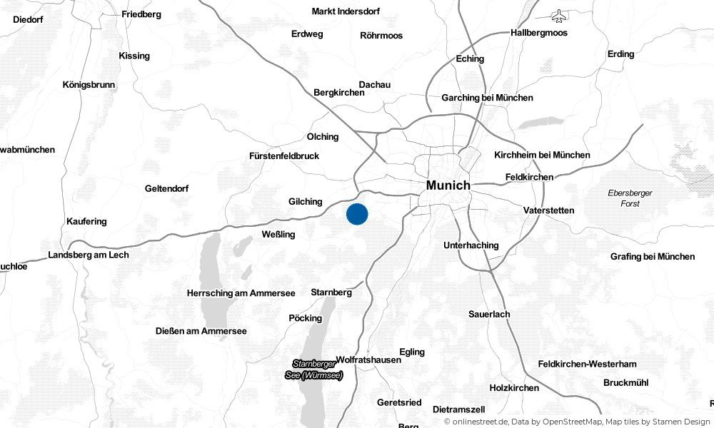 Karte: Wo liegt Krailling?