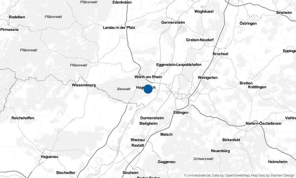 Karte: Wo liegt Hagenbach?
