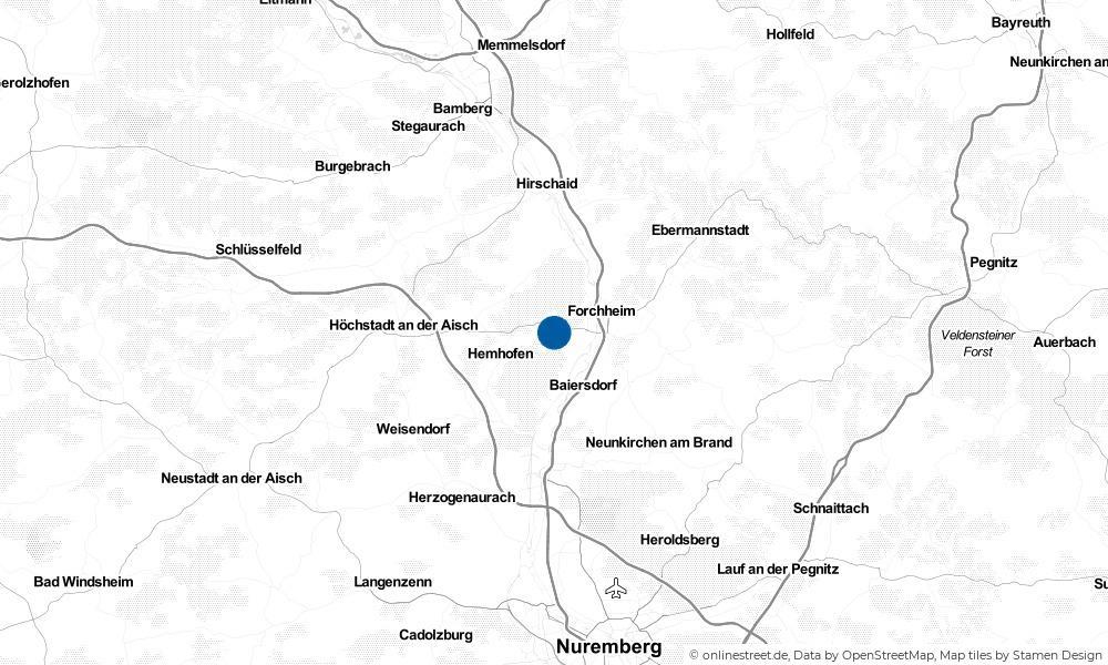 Karte: Wo liegt Heroldsbach?