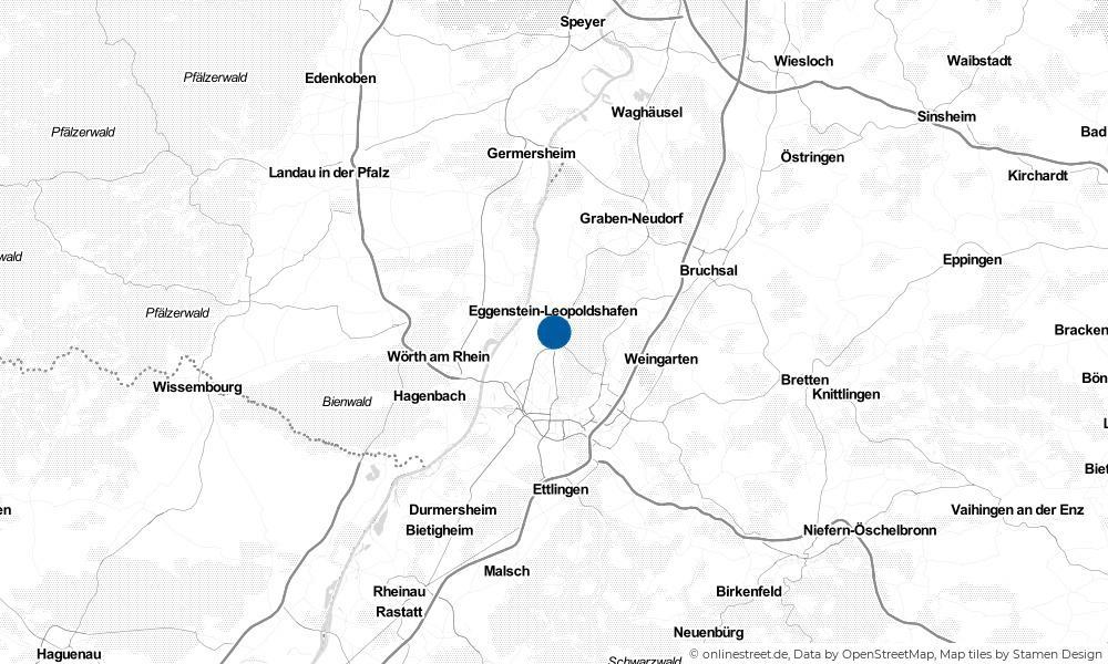 Karte: Wo liegt Eggenstein-Leopoldshafen?