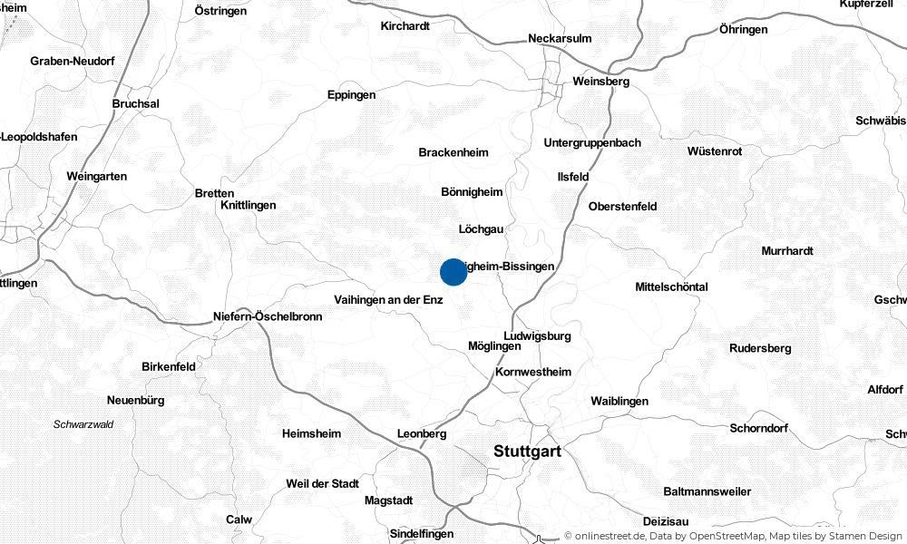 Karte: Wo liegt Sachsenheim?
