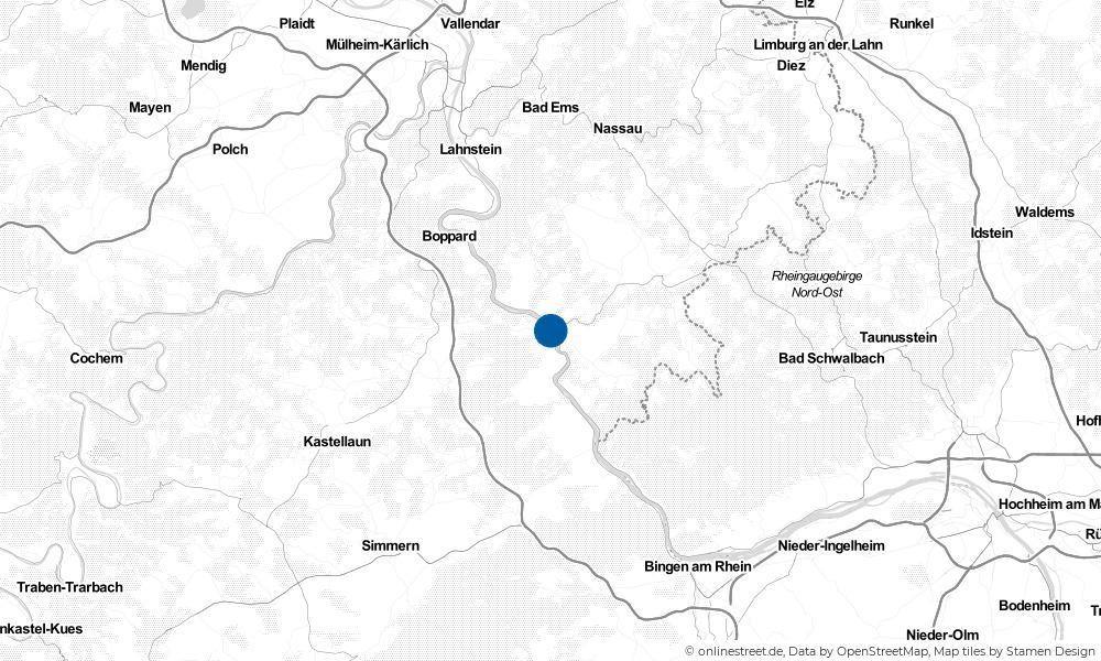 Karte: Wo liegt Sankt Goarshausen?