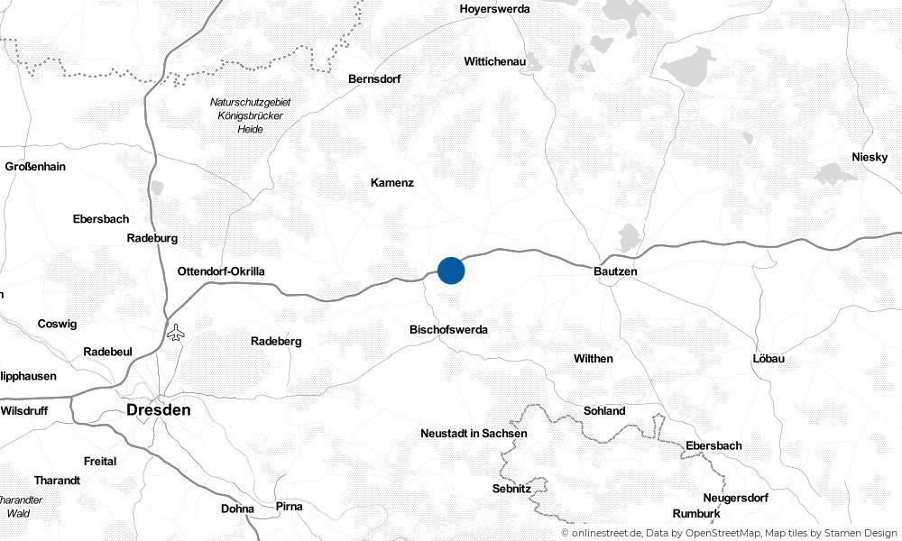 Karte: Wo liegt Burkau?