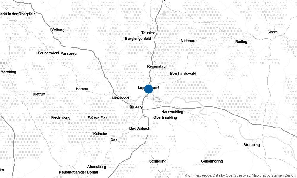 Karte: Wo liegt Lappersdorf?