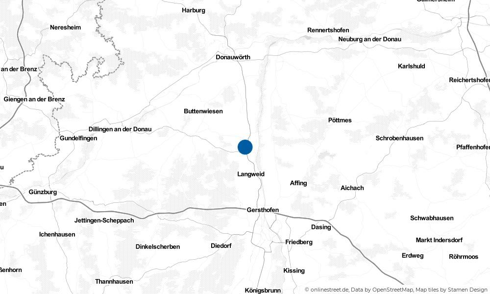 Karte: Wo liegt Meitingen?