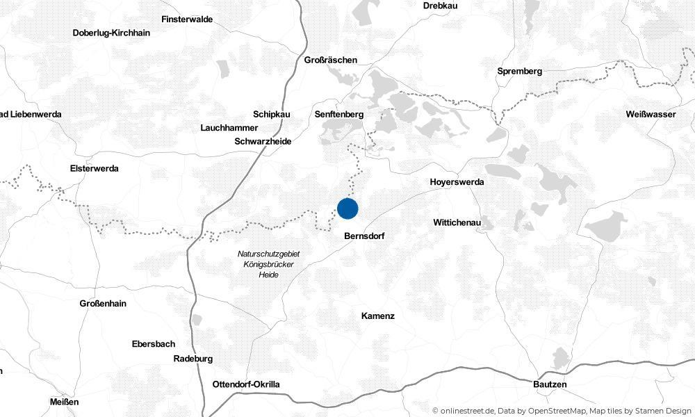 Karte: Wo liegt Wiednitz?