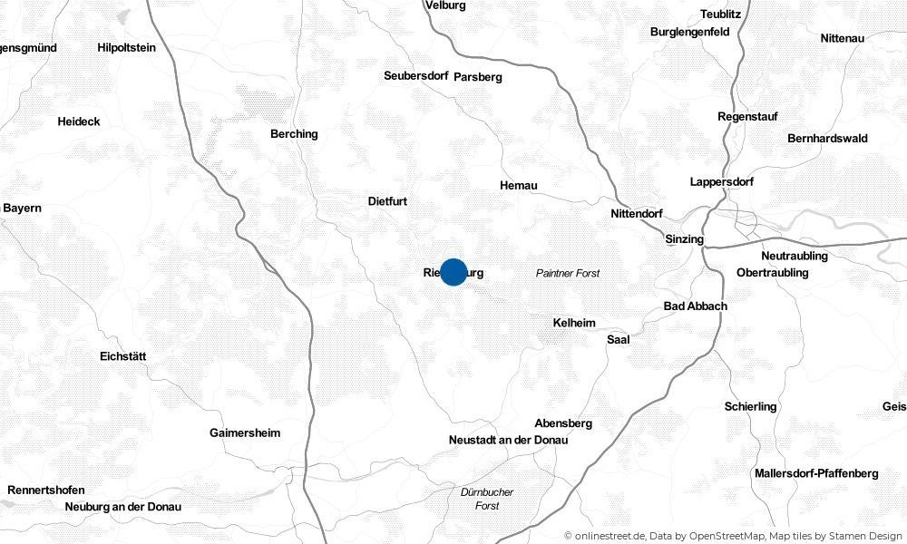 Karte: Wo liegt Riedenburg?