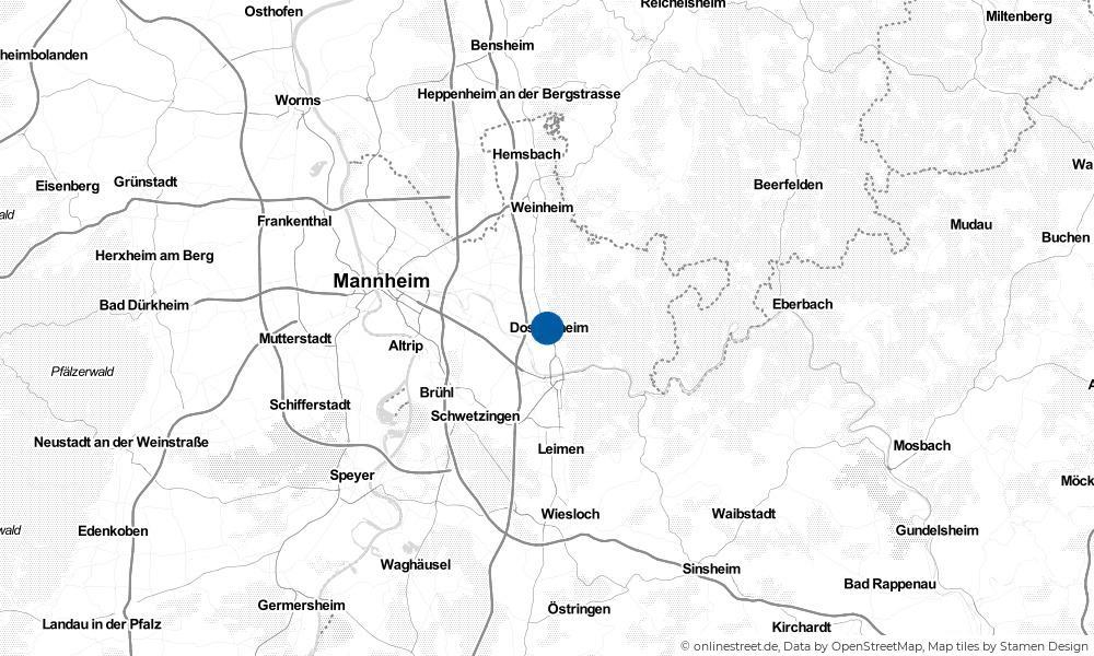 Karte: Wo liegt Dossenheim?