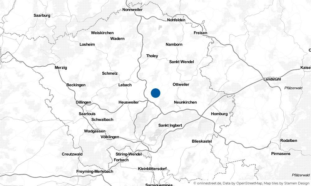 Karte: Wo liegt Illingen?