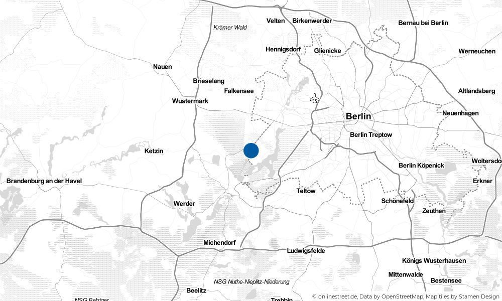 Karte: Wo liegt Groß Glienicke?