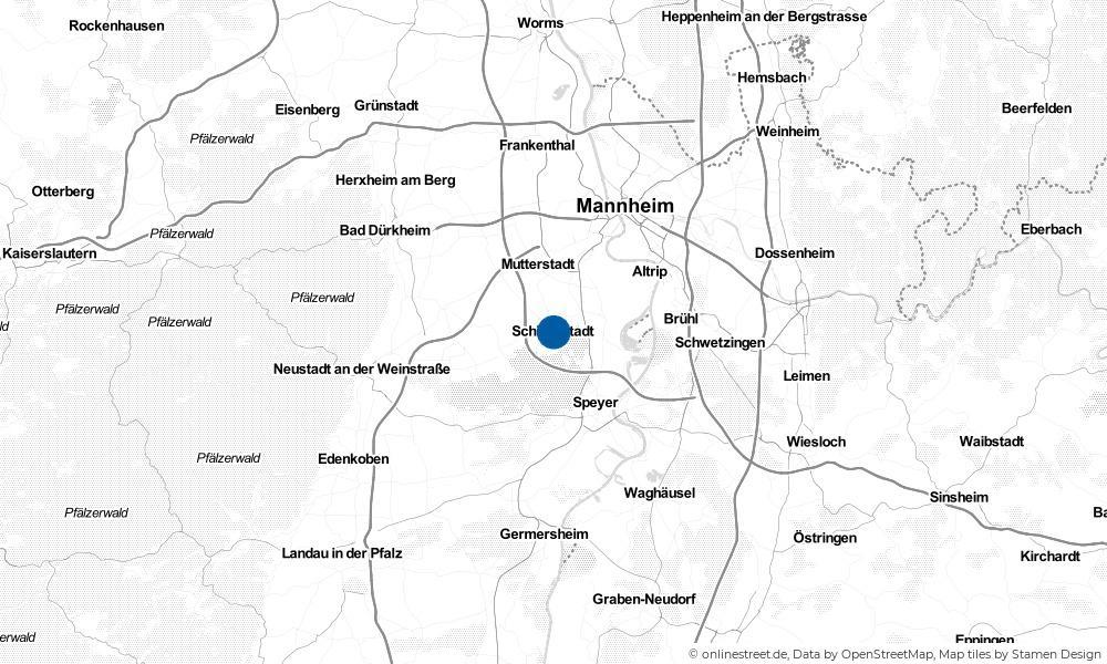 Karte: Wo liegt Schifferstadt?