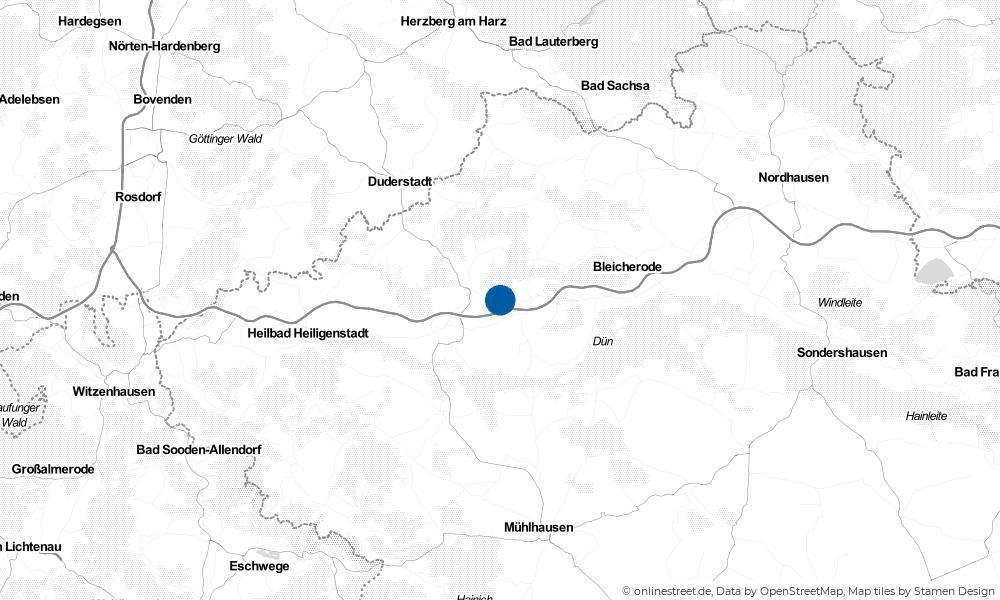 Karte: Wo liegt Kirchworbis?