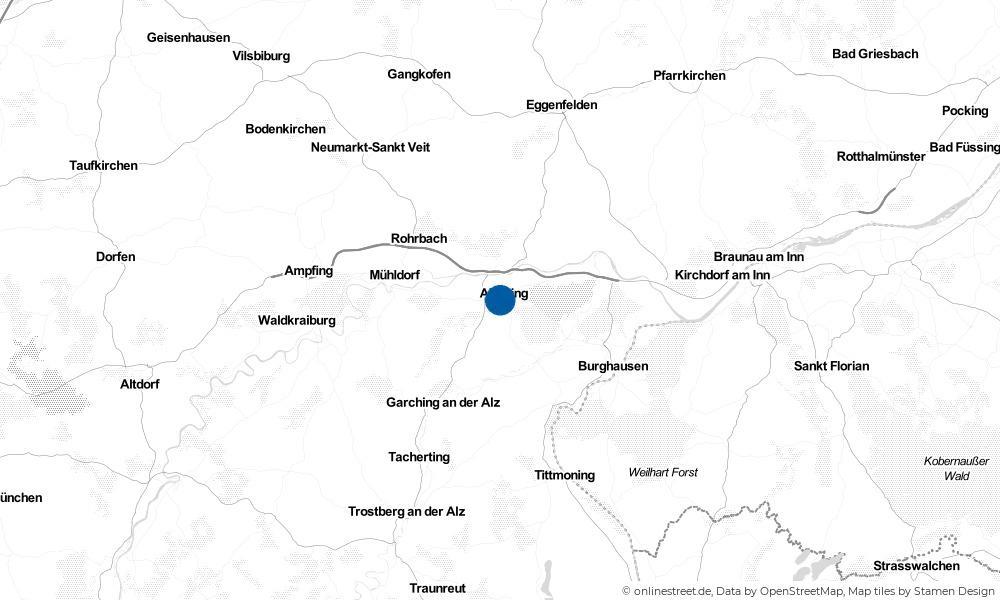 Karte: Wo liegt Altötting?