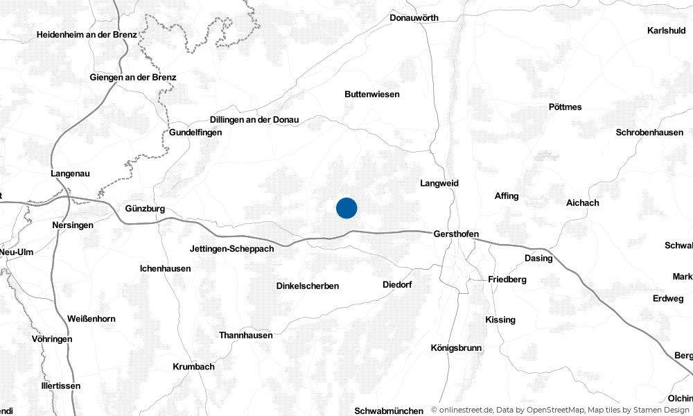 Karte: Wo liegt Welden?