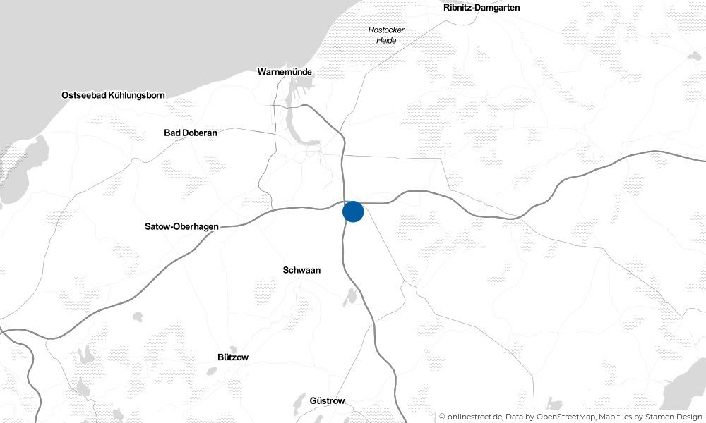 Karte: Wo liegt Dummerstorf?