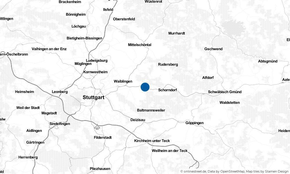 Karte: Wo liegt Remshalden?