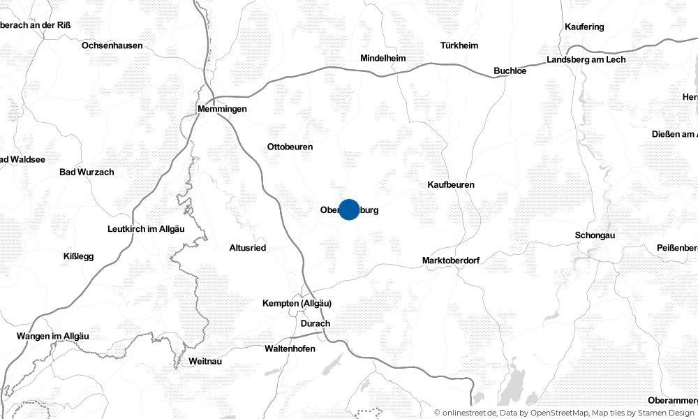 Karte: Wo liegt Obergünzburg?