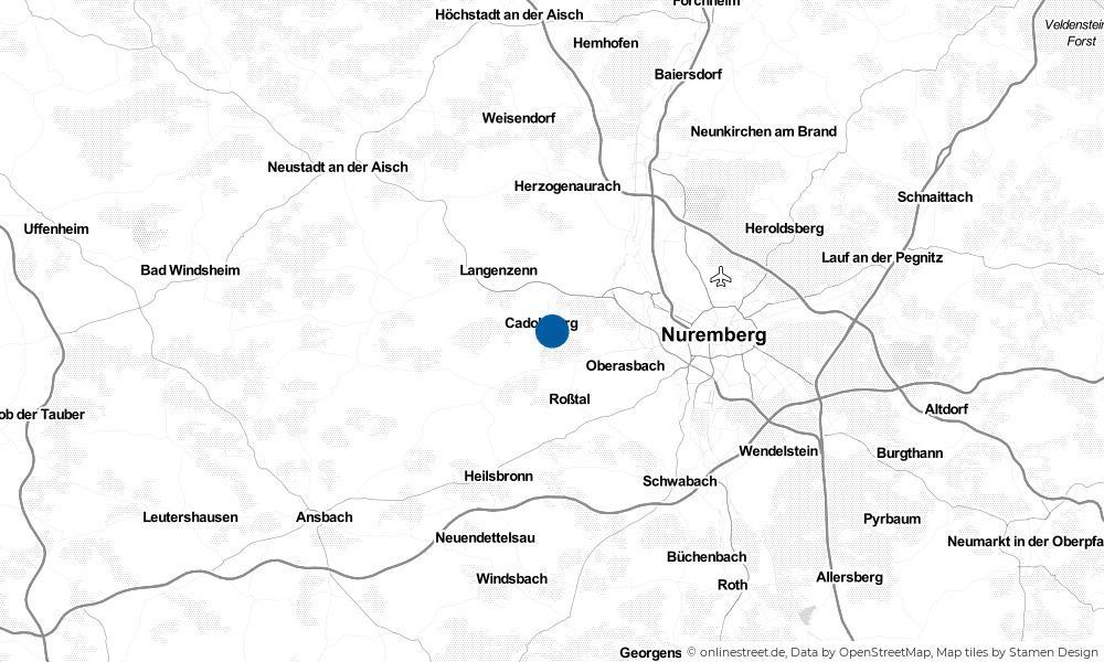 Karte: Wo liegt Cadolzburg?
