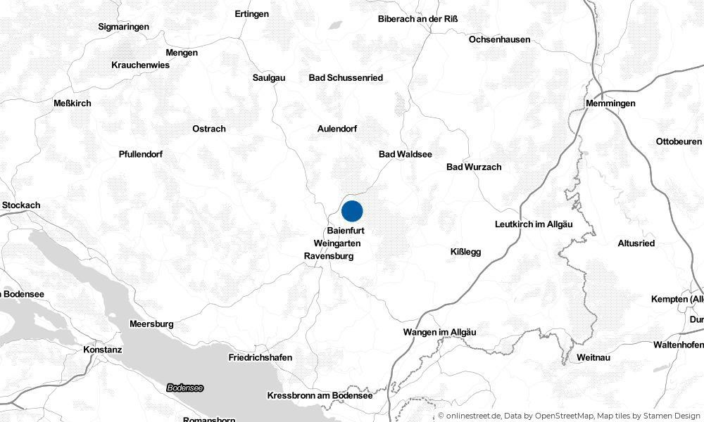 Karte: Wo liegt Baindt?