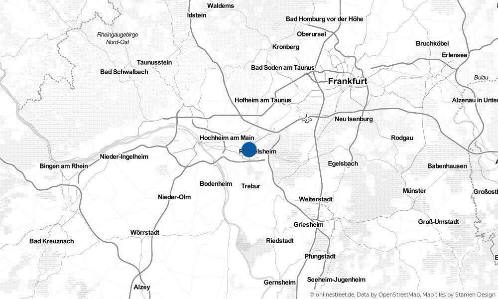 Karte: Wo liegt Rüsselsheim?
