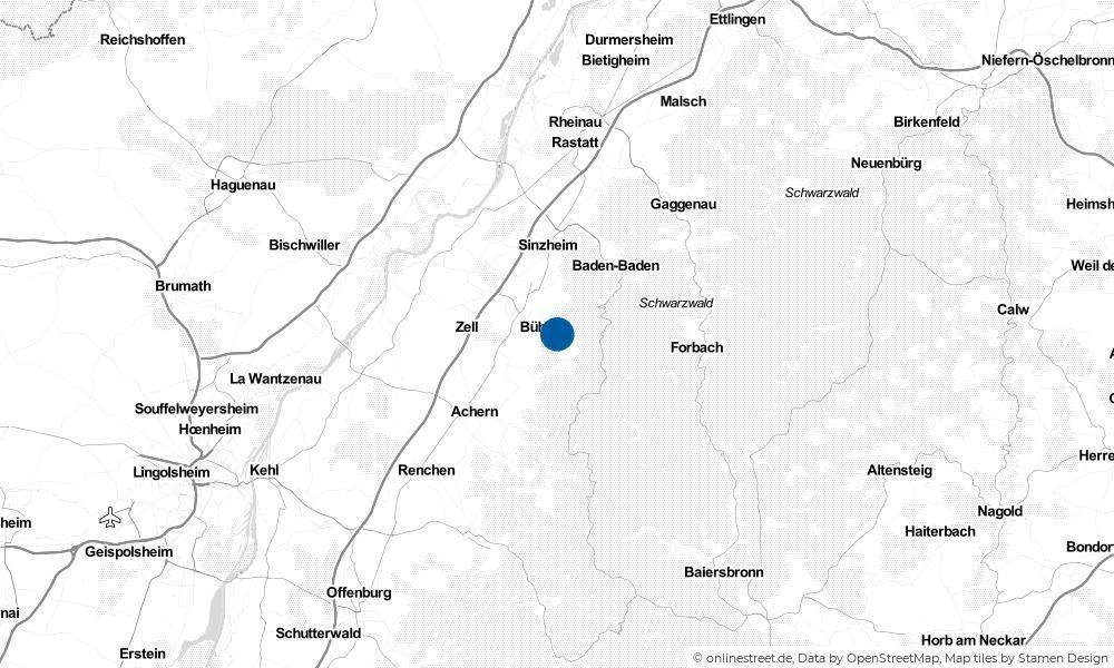Karte: Wo liegt Bühlertal?