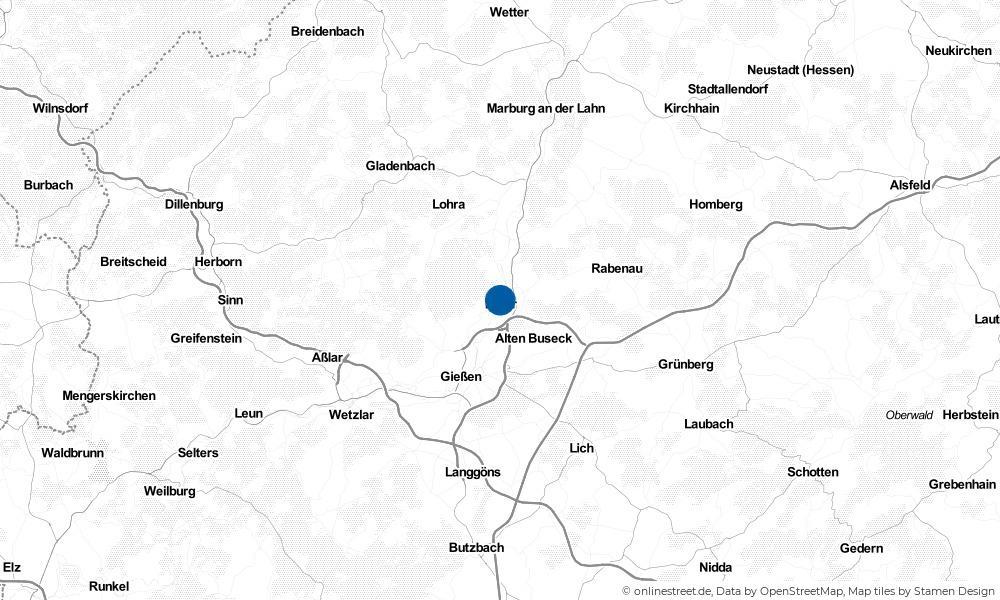Karte: Wo liegt Lollar?
