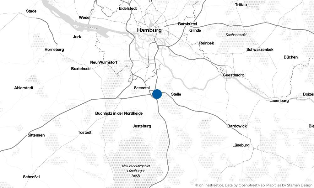 Karte: Wo liegt Seevetal?