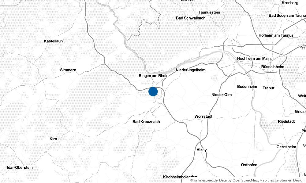 Karte: Wo liegt Laubenheim?