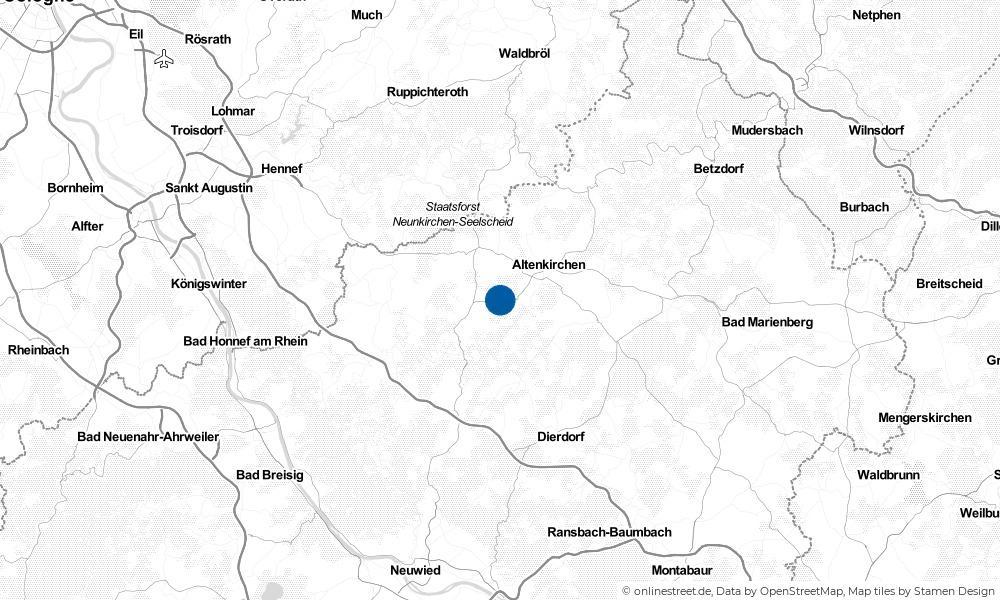 Karte: Wo liegt Neitersen?