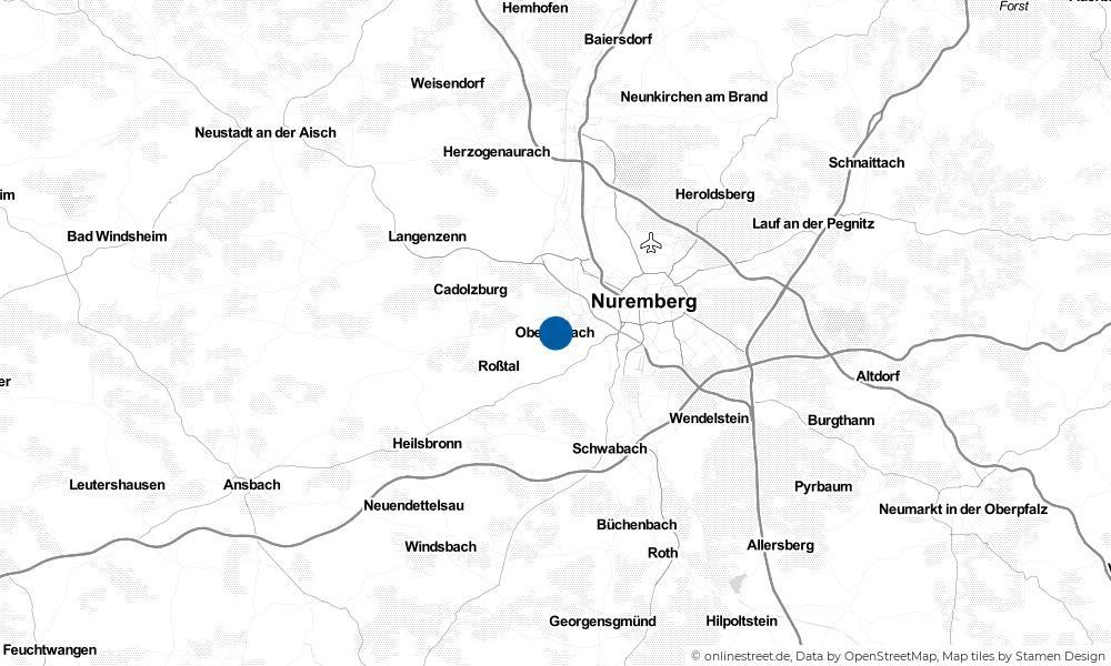 Karte: Wo liegt Oberasbach?
