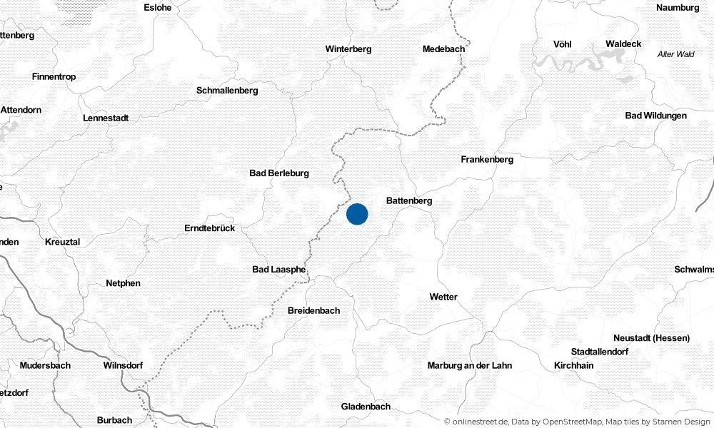 Karte: Wo liegt Hatzfeld (Eder)?
