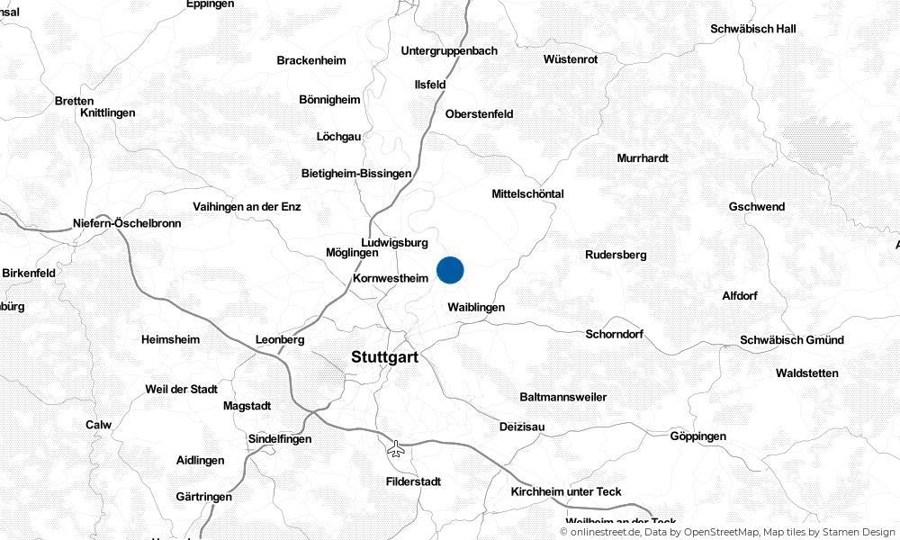 Karte: Wo liegt Remseck am Neckar?