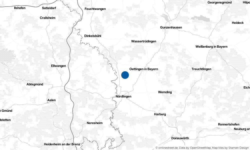 Karte: Wo liegt Maihingen?
