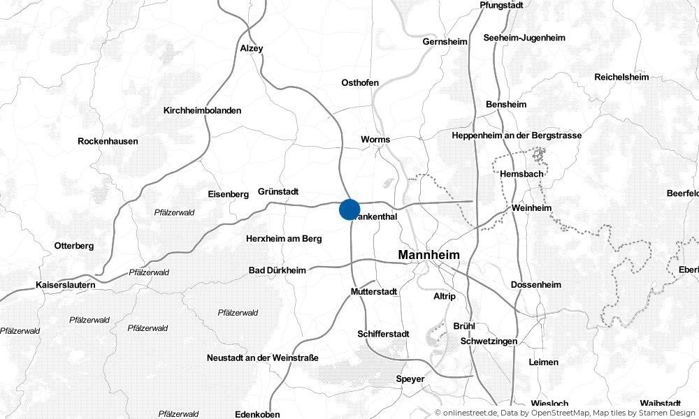 Karte: Wo liegt Heßheim?