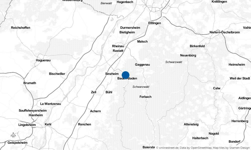 Karte: Wo liegt Baden-Baden?