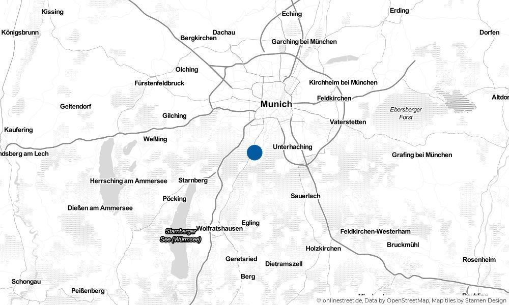 Karte: Wo liegt Pullach im Isartal?