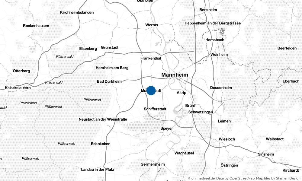 Karte: Wo liegt Mutterstadt?