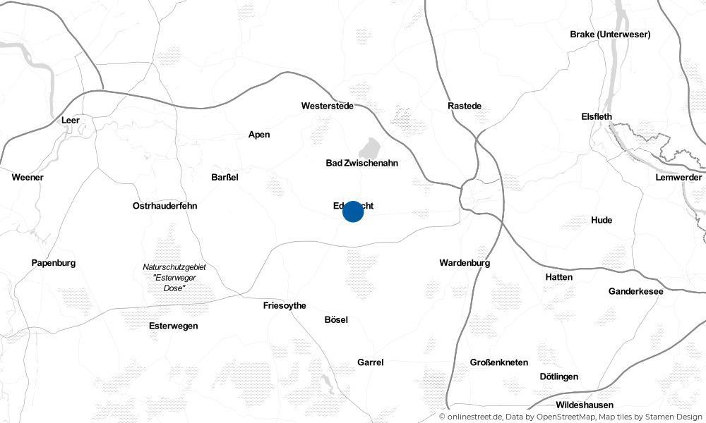 Karte: Wo liegt Edewecht?