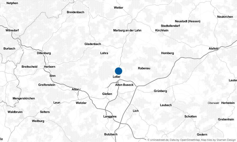 Karte: Wo liegt Staufenberg?