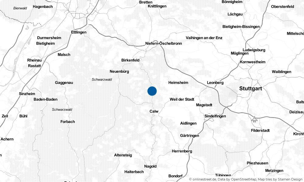 Karte: Wo liegt Bad Liebenzell?