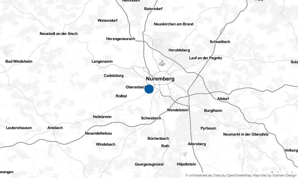 Karte: Wo liegt Stein bei Nürnberg?
