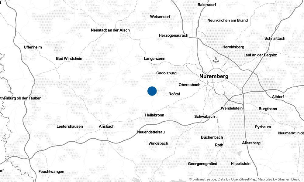 Karte: Wo liegt Großhabersdorf?