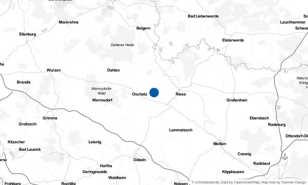 Karte: Wo liegt Bornitz?