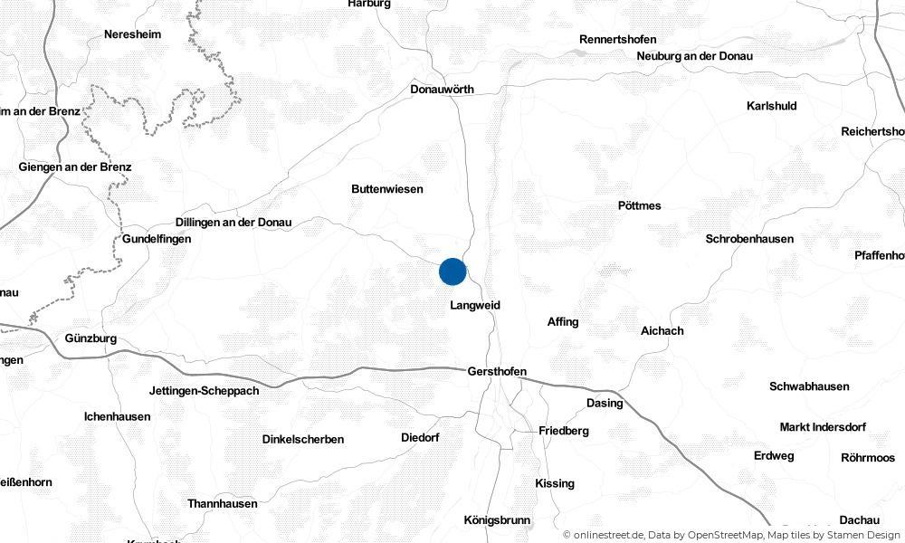 Karte: Wo liegt Biberbach?