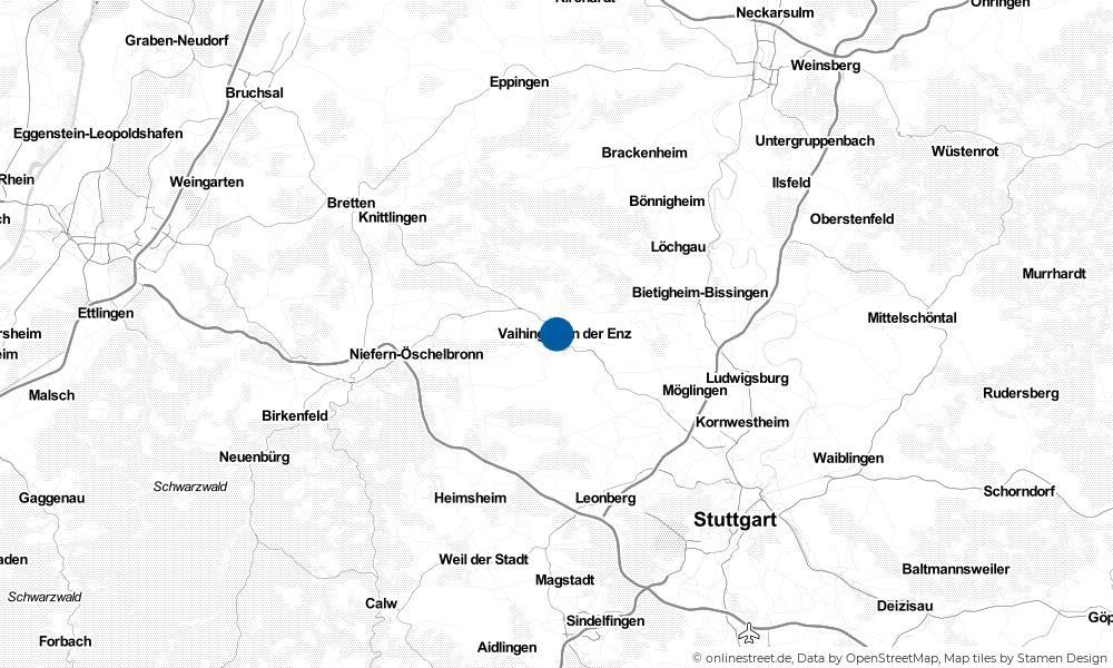 Karte: Wo liegt Vaihingen an der Enz?