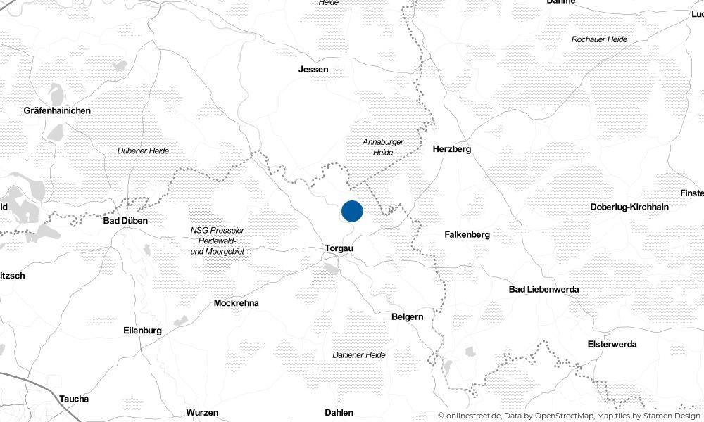 Karte: Wo liegt Großtreben-Zwethau?