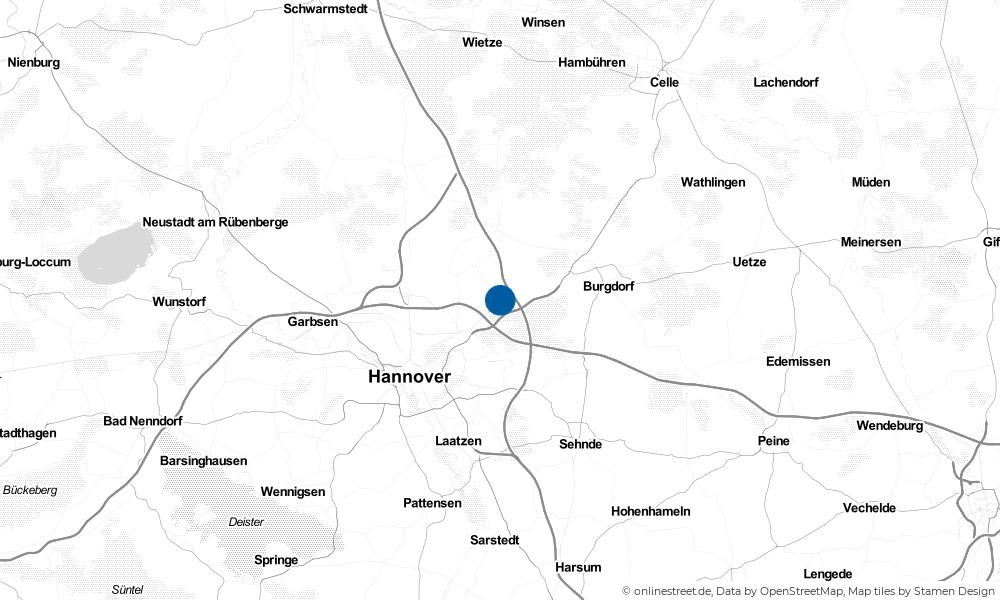 Karte: Wo liegt Isernhagen?